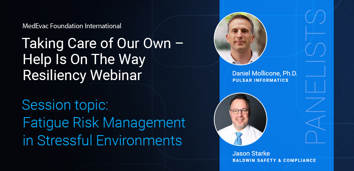 Image: Webinar announcement with pictures of panelists Daniel Mollicone and Jason Stark.