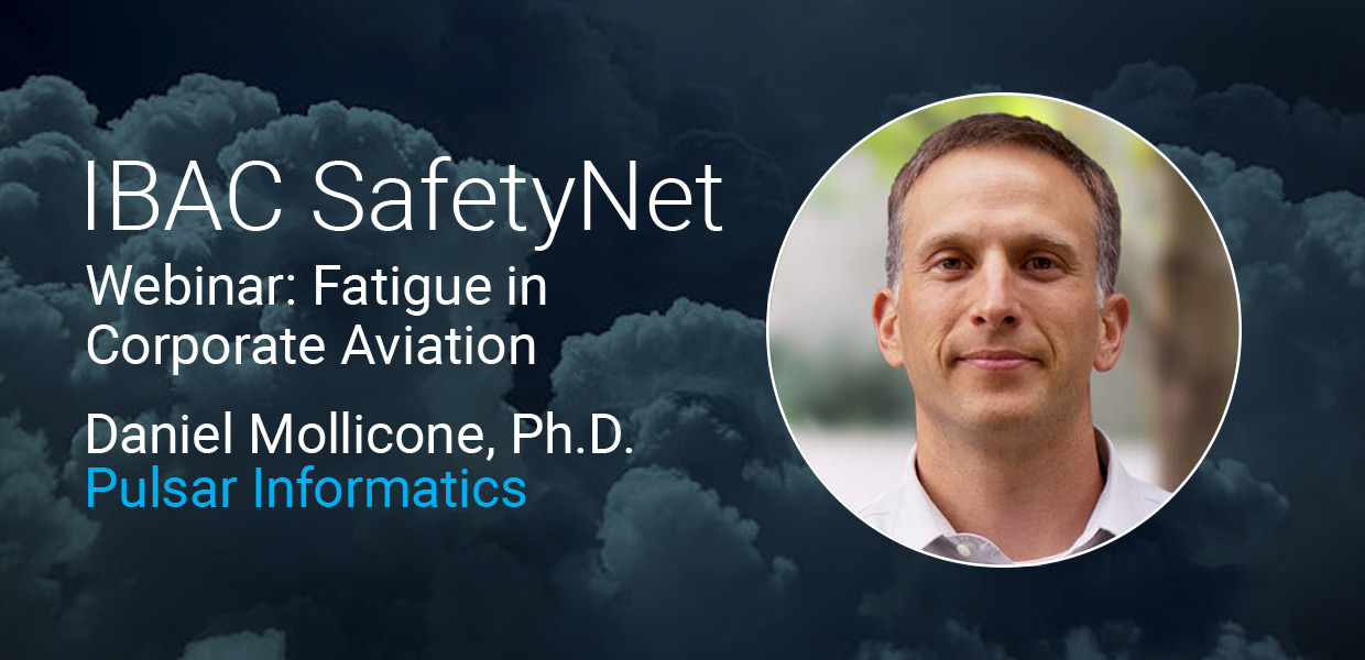 Free Webinar: Fatigue in Corporate Aviation graphic
